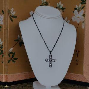New Rhinestone cross necklace from Lia Sophia